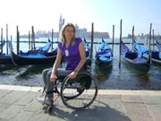 wheelchair;woman;disabled;disability;travel;tourist;accessible;tourism;inclusive-tourism;italy;venice;grand-canal;gondola