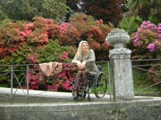 wheelchair;woman;disabled;disability;travel;tourist;accessible;tourism;inclusive-tourism;garden;flowers;park;parkland;italy