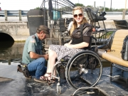 everglades;florida;airboat;wheelchair;women;sun;alligator;wildlife;USA;swamp;sawgrass;disability;accessible;inclusive;adventure;tamiami-trail