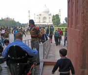 disability;disabled;travel;inclusive-travel;accessible-travel;accessible;access;male;man;india;wheelchair;power-chair;sub-continent;holiday;taj-mahal