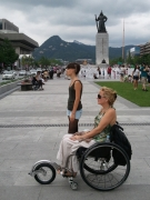 wheelchair;woman;korea;Seoul;accessible;accessibility;inclusive;disabled;disability;asia;travel
