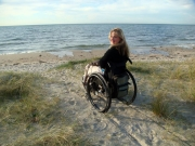 wheelchair;disability;disabled;woman;travel;accessible;accessibility;melbourne;australia;victoria;morningtom-peninsula;rye;beach;sand;sea;sun;ocean