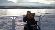 wheelchair;woman;ferry;winter;seattle;victoria;ocean;grey;washington;british-columbia;accessible;accessibility;inclusive;disability;disabled;travel
