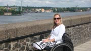 wheelchair;woman;disability;disabled;sweden;stockholm;Europe;accessible;accessibility;inclusion;travel;history;historic