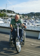 Nick-Richards-on-holiday-in-Cornwall-UK-with-his-Road-Runner-electric-handcycle.