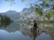 wheelchair;access;accessible;inclusion;river;mountain;mountains;stream;fishing;fly-fishing;trout;water;man;male