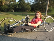 wheelchair;access;accessible;inclusion;woman;female;hand-cycle;marathon;smiling;sun