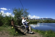 wheelchair;disabled;disability;access;accesible;inclusion;inclusive;leisure;travel;lake;water;sun;fishing