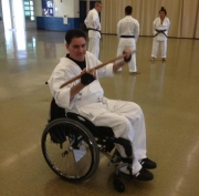 Karate-Bokken-demonstrated-by-man-in-wheelchair---wooden-sword