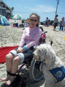 disability;disabled;girl;female;woman;service-dog;access;accessibility;adaptive;lifestyle;leisure;family;wheelchair;beach;ocean;sun;outdoors;sand;sea