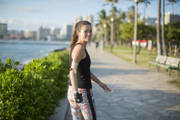 Young-woman-with-prosthetic-arm-out-jogging