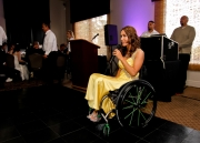 disabled;disability;wheelchair;female;woman;conference;speaking;speaker;function;ball;tamara-mena