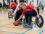 Casey-Stadium,-Melbourne,-Australia.-27th-August,-2017.-Inaugural-Wheelchair-AFL-Victorian-State-Championship-held-at-Casey-Stadium,-Cranbourne.-Credit:-PhotoabilityAlamy-Live-News