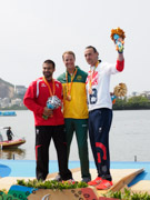 Rio-2016-Paralympic-Games-Inaugural-Canoe-Sprint-Competition.-Men's-KL2-Final,-Gold-Curtis-McGrath-Australia,-Silver-Markus-Swoboda-Austria,-Bronze-Nick-Beighton-Great-Britain